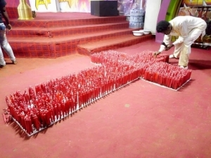 Pastor Trends After Praying With Many Red Candles On His Church Altar (Photos)